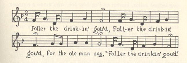 Follow the Drinking Gourd musical fragment